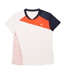 Yonex - 18220 Polo Shirt Women White/Orange 8-10 Year