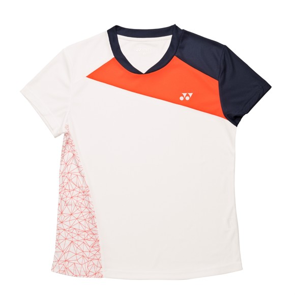 Yonex - 18220 Polo Shirt Women White/Orange 8-10 Year