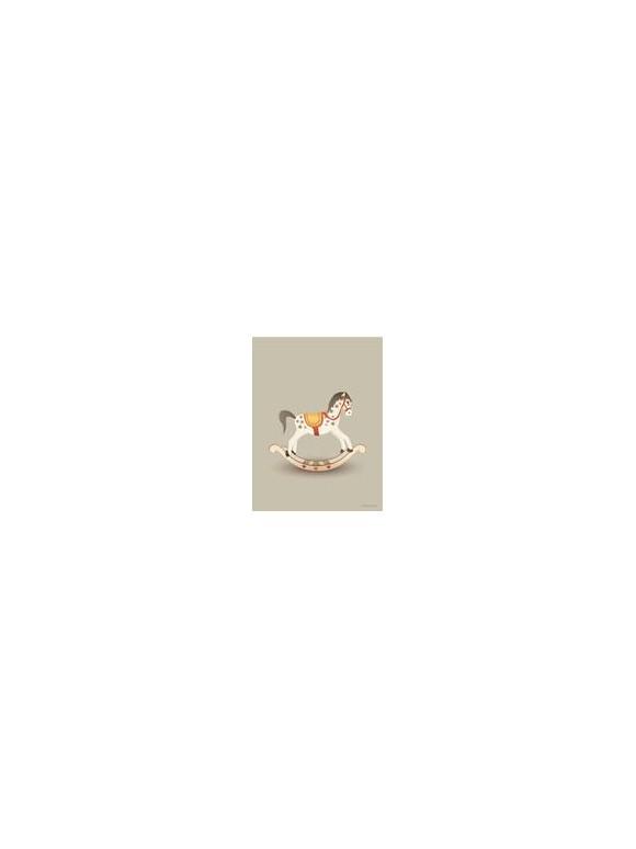 Vissevasse - Gyngehest Sandy Plakat 30 x 40 cm
