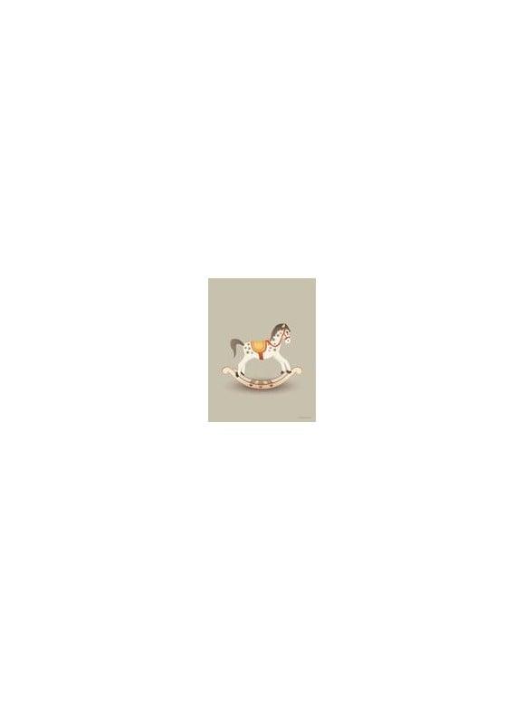 Vissevasse - Rocking Horse Poster 30 x 40 cm