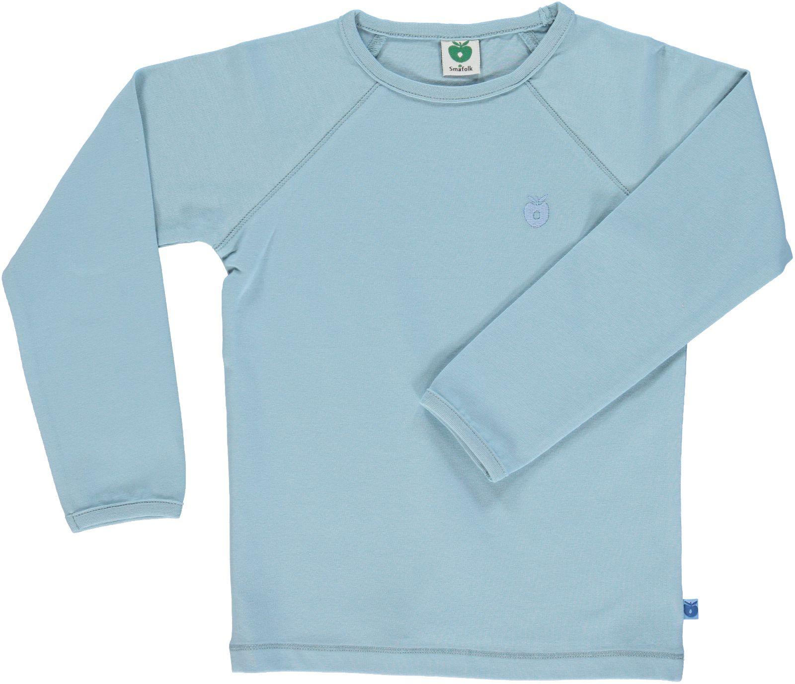 Småfolk - Organic Basic Longsleved T-Shirt - Stone Blue