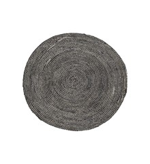 House Doctor - Structure Carpet - Black/Grey (Rm0101-dia100)