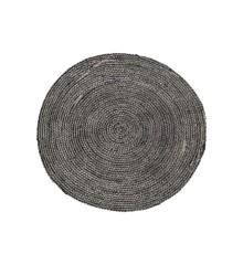 House Doctor - Structure Carpet Ø 100 cm - Sort/Grå