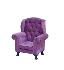 Rice - Kids Wing Chair - Pink w. Blue Legs