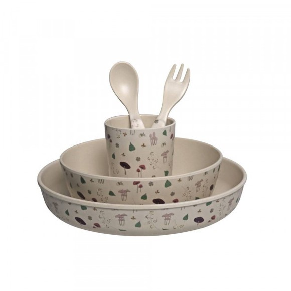 Filibabba - Bamboo Dining, Forest floor, Rose (BDW003)
