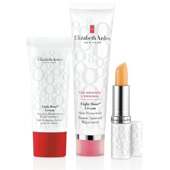 Elizabeth Arden - Eight Hour  Cream skin protector 50 ml +  Lip Stick 3,7 g + Intensive Moisturizing Hand Cream 30 ml - Gavesæt