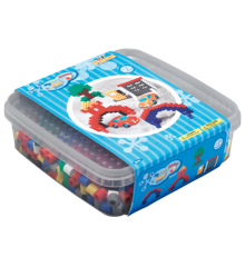 HAMA Beads - Maxi - 600 beads and 1 pegboard in box - Blue (8741)