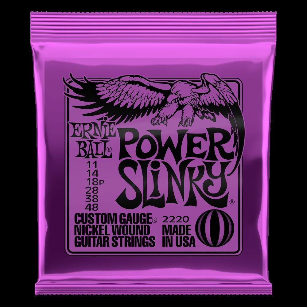 Ernie Ball - Power Slinky - String Set For Electric Guitar (011-048)