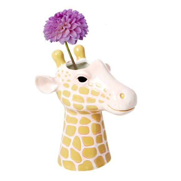 Rice - Ceramic Vase in Giraffe Head Shape