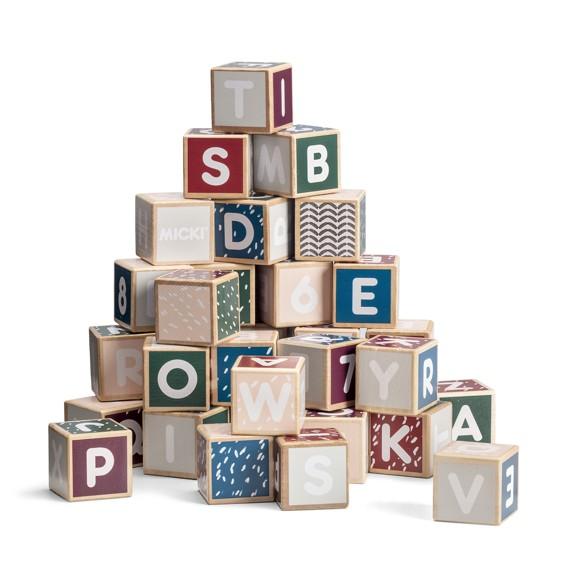 Micki - Wooden Alphabet Blocks, Senses (10213500)