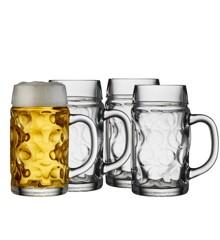 Lyngby Glas - Ølkrus Sæt á 4 - 0,5 Liter