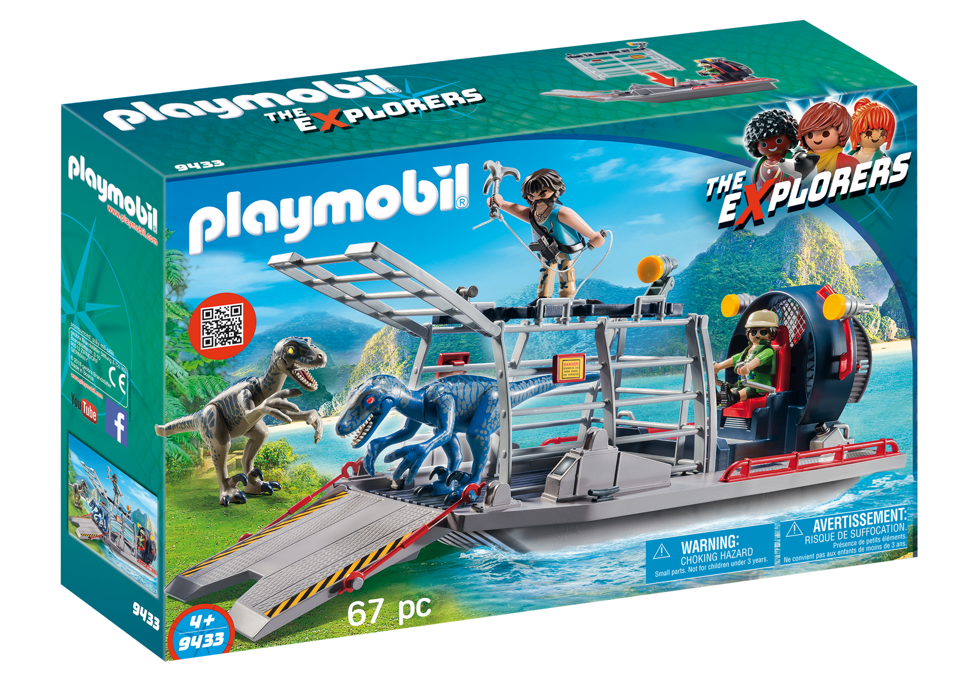 Playmobil - Enemy Airboat with Raptors (9433)