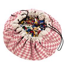 Play&Go - Legetæppe og Opbevarings taske  - Diamond Pink