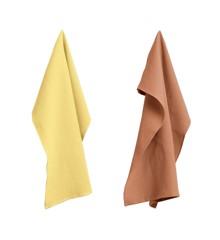 HAY - Waffle Tea Towel Set Of 2 - Terracotta/Yellow (507892)