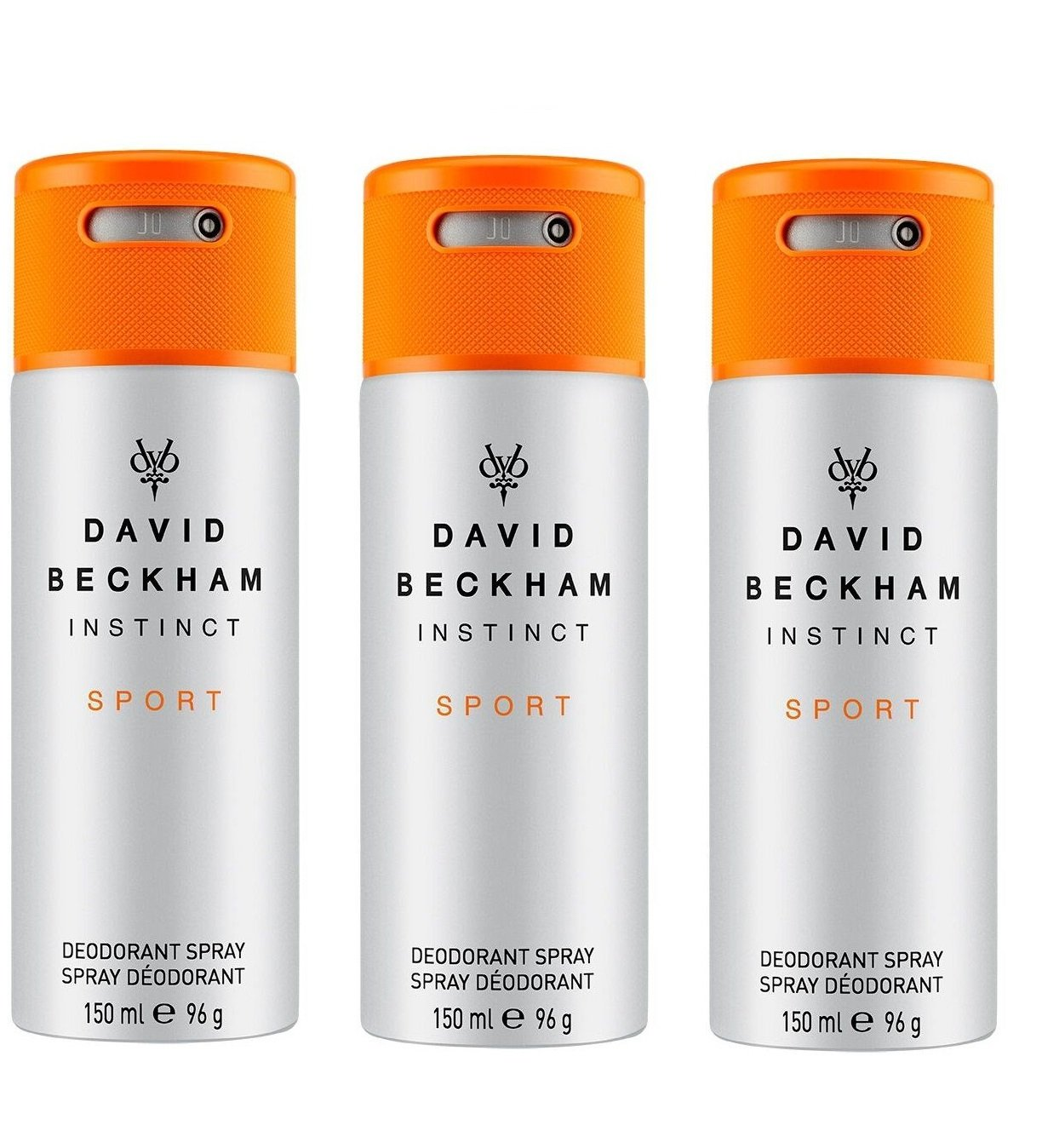 David Beckham - 3x Instinct Sport Deodorant Spray 150 ml