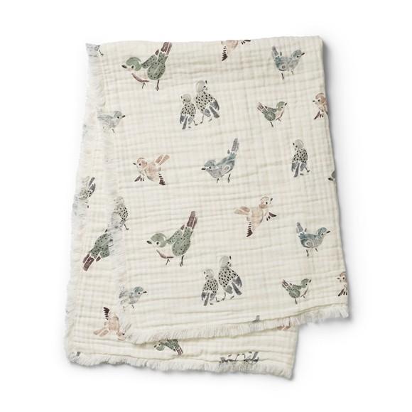 Elodie Details - Soft Cotton Blanket - Feathered Friends