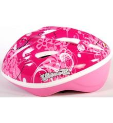 Volare - kids bike helmet - pink flowers (51-55 cm) (571)