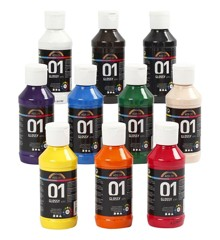 A-Color - Acrylic Paint  - Glossy - 10 x 100 ml (32001)