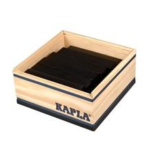 Kapla - Schwarze Ziegelsteine - 40 Stück