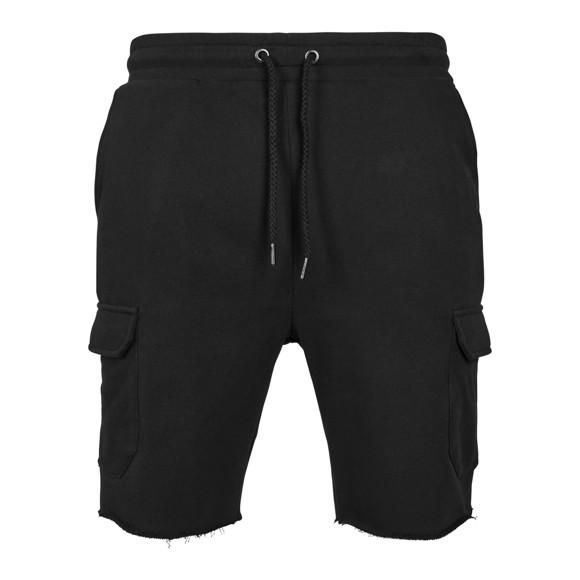 Urban Classics - Open Edge Terry Cargo Shorts black - L