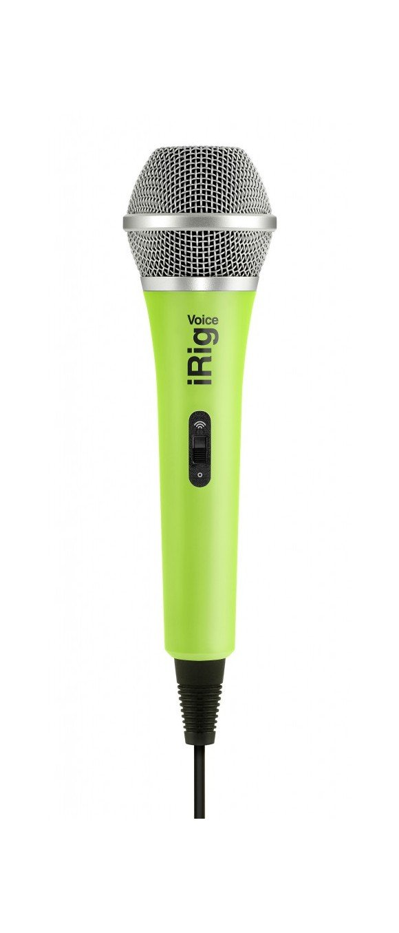 IK Multimedia - iRig Voice - Handheld Microphone For iOS & Android Devices (Green)