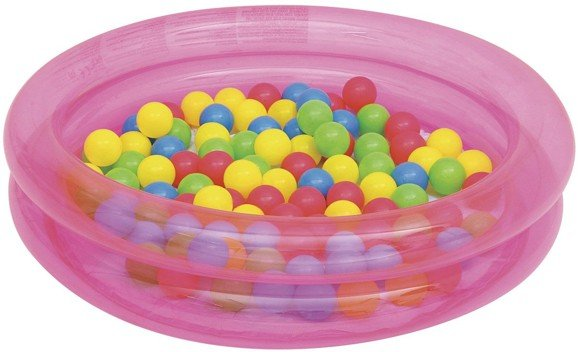 Bestway - Activity 2-Ring Ball Pit Play Pool Φ91cm x H20cm - Pink (51085)