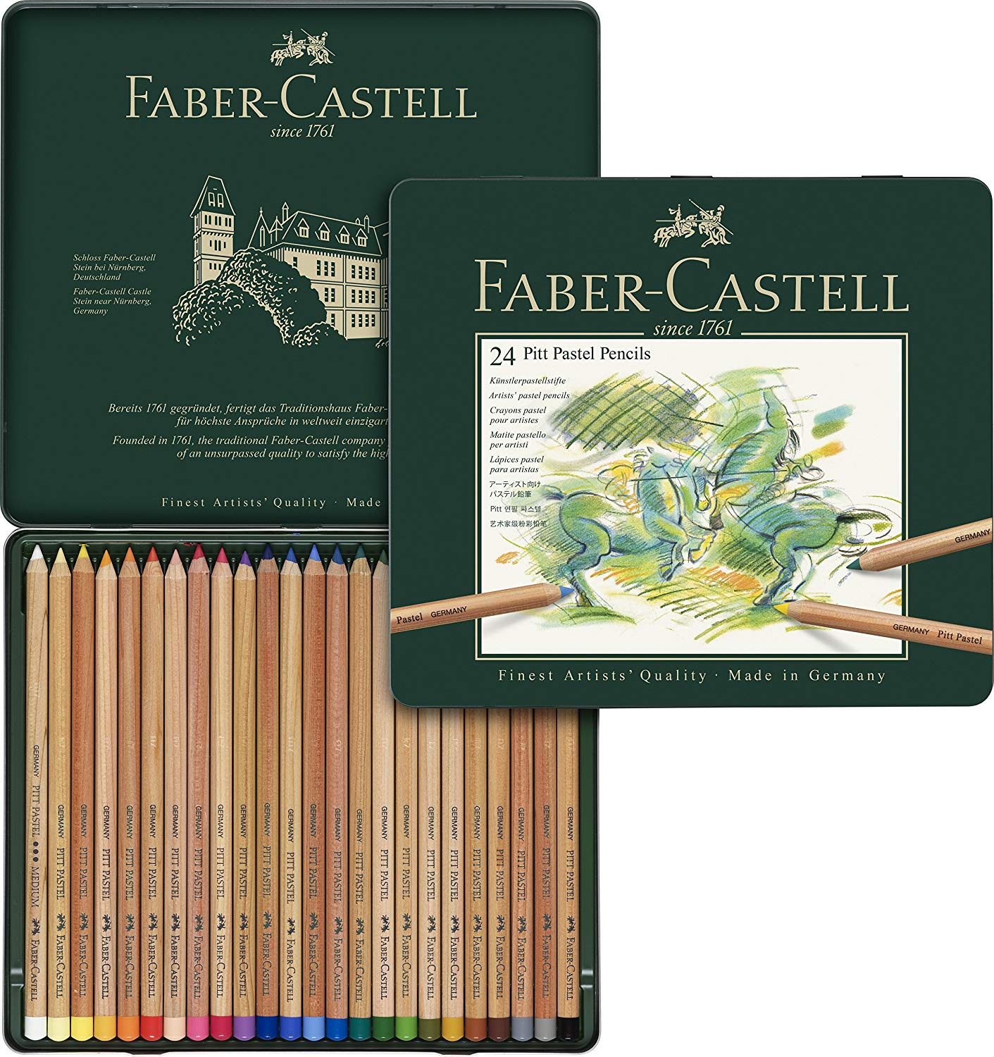 Faber-Castell - Colour pencil Pitt Pastel tin of 24 (112124)