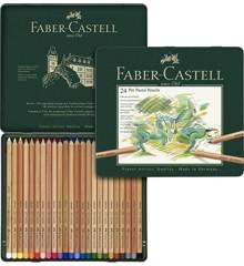 Faber-Castell - Pitt Pastel farveblyanter, tinæske med 24 stk (112124)