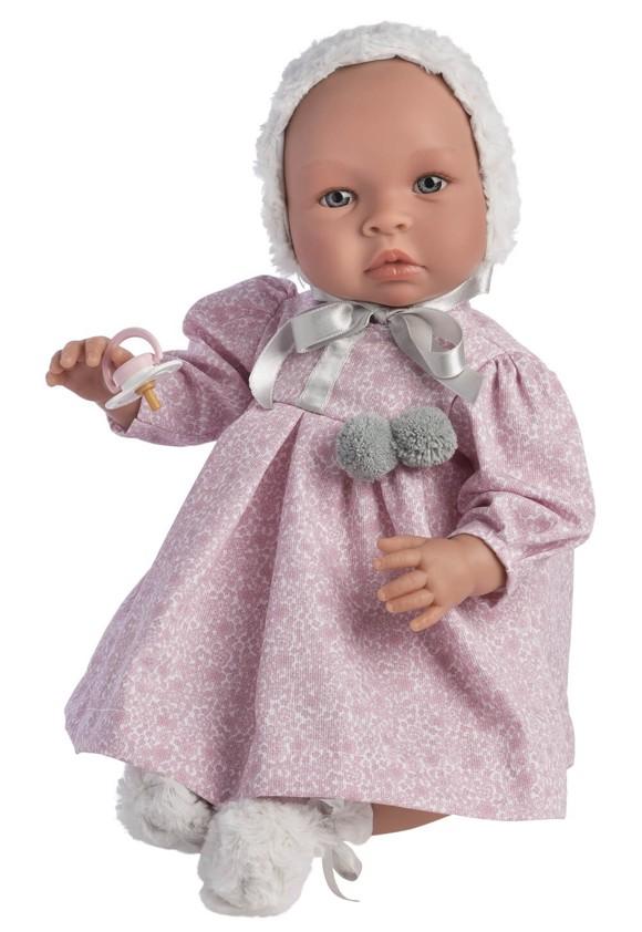 Asi dukker - Leonora dukke i rosa blomsterkjole, 46 cm