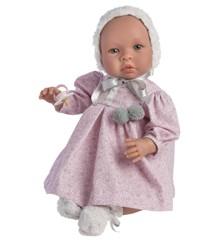 Asi dukker - Leonora dukke i rosa blomstret kjole, 46 cm