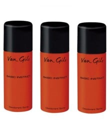 Van Gils - 3x Basic Instinct Deodorant Spray 150 ml