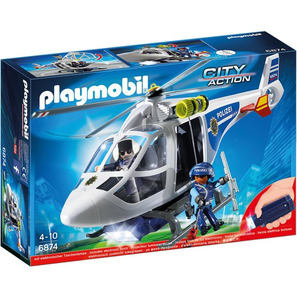Playmobil - Police Helicopter with LED Searchlight (6921)