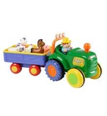 Happy baby -  Farm traktor med trailer