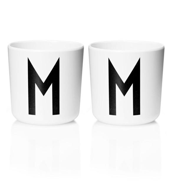Design Letters - Personal Melamin Kop M - 2 stk - Hvid