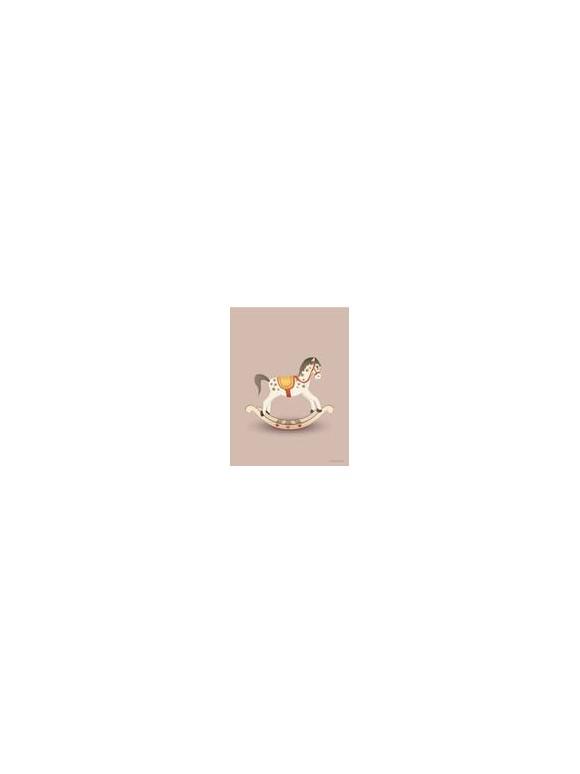 Vissevasse - Rocking Horse Rosy Poster 30 x 40 cm