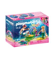Playmobil - Magic - Familie med barnevogn (70100)