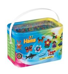 Hama Beads - Midi - 10.000 Beads in Bucket - Glitter Mix (202-54)