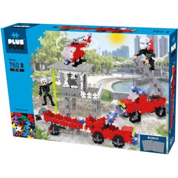 Plus Plus - Mini Basic - Fire Station, 760 pc  (3776)