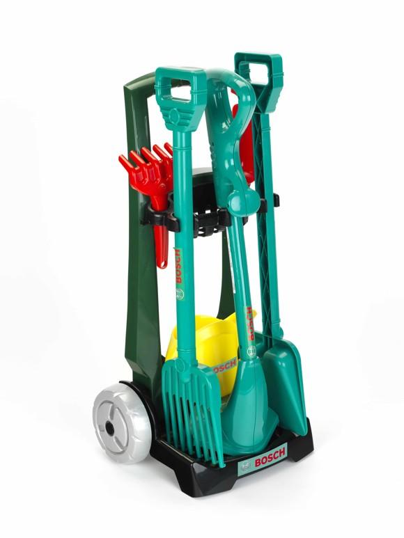 Klein - Bosch - Kids Garden Trolley, 7 pieces (KL2751)