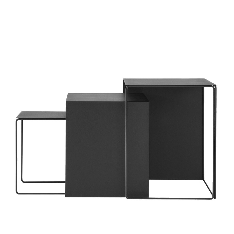 Ferm Living - Cluster Tables set Of 3 - Black (3213)