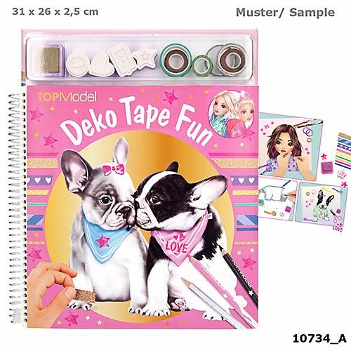 Top Model - Malbuch mit Masking Tapes - Hund