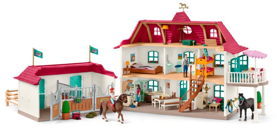 Schleich - Großer Pferdehof mit Wohnhaus und Stall (42416)