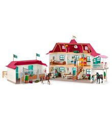 Schleich - Stor hestestald med hus og stald (42416)