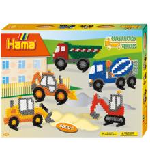 HAMA Perler - Midi -Gaveæske - Entreprenørmaskiner