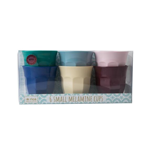 Rice - Små Melamin Kopper 6 stk - Urban Colors