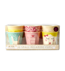 Rice - Melamine Cups 6 Pcs Small - Assorted Rabbit Print