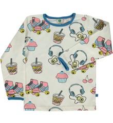 Småfolk - Økologisk Langærmet T-Shirt m. Skater Stuff