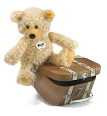 Steiff - Charly dangling Teddy bear in suitcase, 30 cm