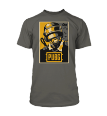 PUBG Hope Poster Tee Charcoal - 2X-Large