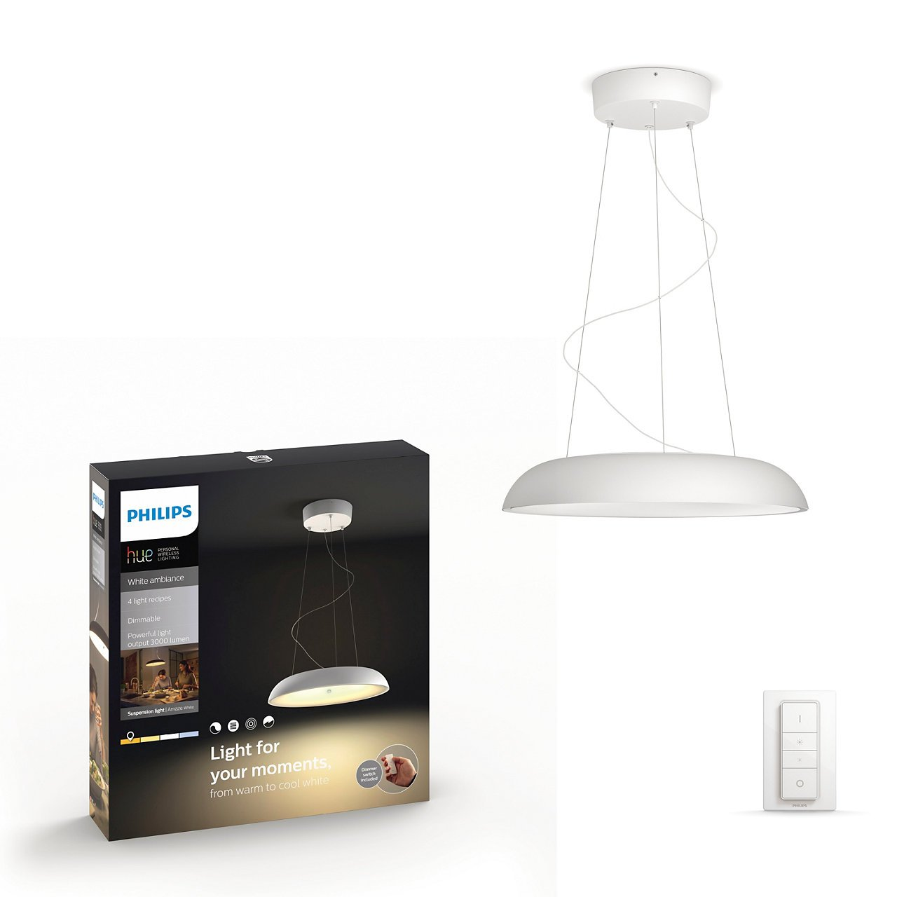 Philips Hue -  Connected Amaze Pendel - White Ambiance - E